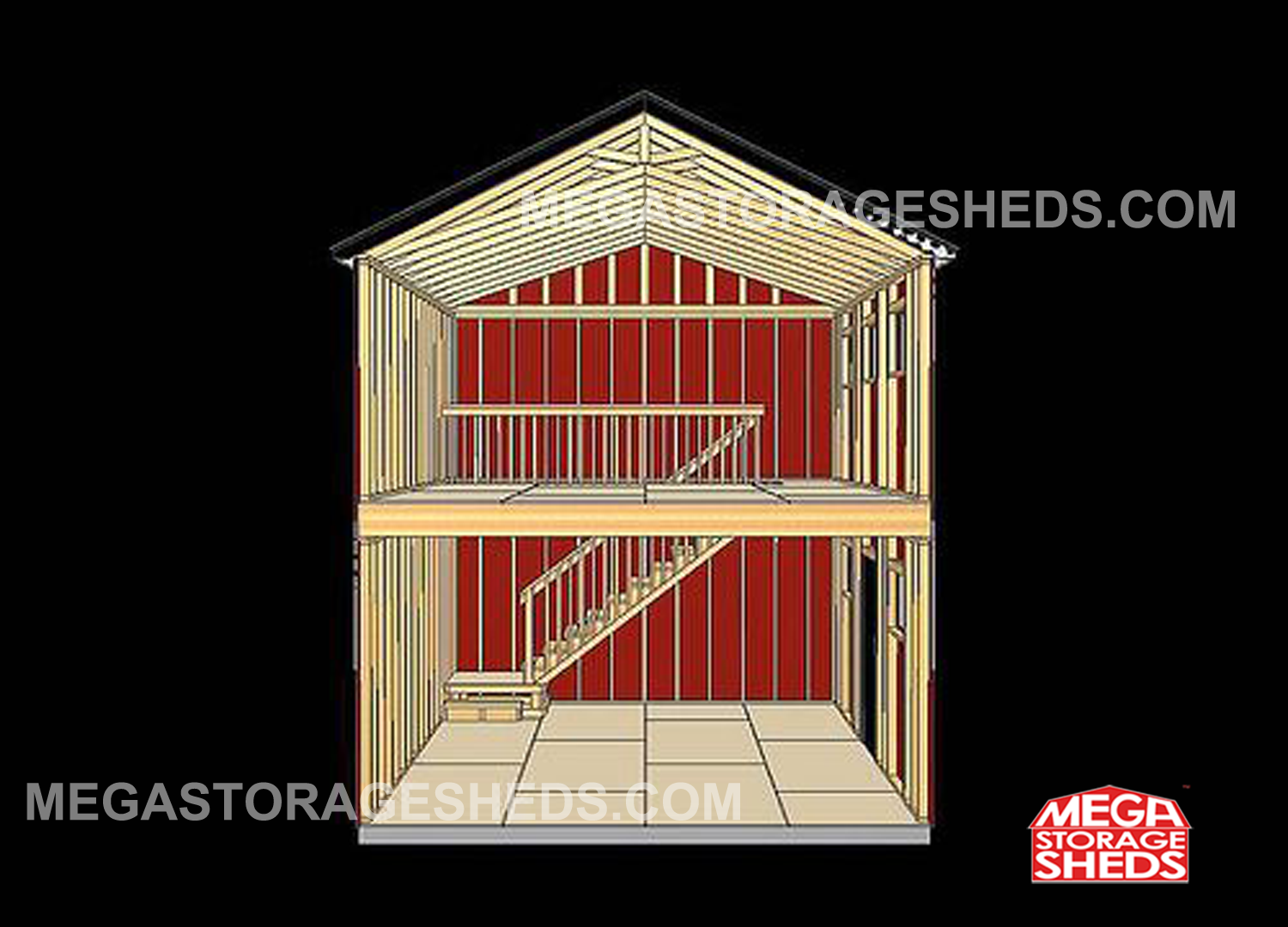 Mega Storage Sheds Two Story Cabins